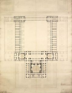 plan for a projected medical faculty, 1857