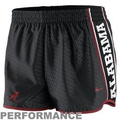 Nike Alabama Crimson Tide Womens Chainmaille Pacer Performance Shorts - Black - $33.95