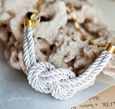 white nautical knot rope necklace @SHARKH Sharkh