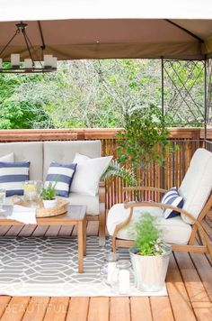 Perfect patios: how to create a stunning outdoor space featuring beautiful outdoor decor inspiration and simple ideas for bringing your patio to life. Outdoor Sofa, Outdoor Spaces, Outdoor Living, Outdoor Furniture Sets, Outdoor Decor, Deck Furniture, Deck With Pergola, Pergola Plans, Attached Pergola
