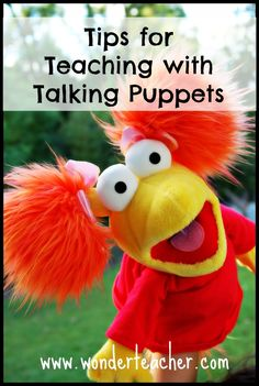 Tips for Teaching with Talking Puppets- You can do so much with puppets. This post shares tips for introducing a talking puppet in your classroom. Fun!