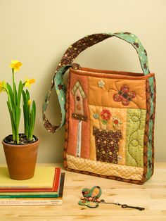 My SpringTime Bag pattern can now be found in the Taiwanese quarterly quilting book: Cotton Life no.5! This one announces that SPRING has fi...