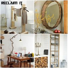 Roundup: Fabulous Reclaimed Wood Projects - www.thedesignconfidential.com