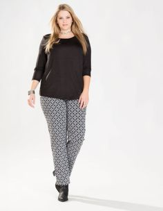 Printed treggings by Mona Lisa. Shop now: http://www.navabi.us/leggings-mona-lisa-printed-treggings-black-white-23697-2428.html?utm_source=pinterest&utm_medium=social-media&utm_campaign=pin-it