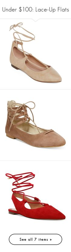 """""""Under $100: Lace-Up Flats"""" by polyvore-editorial ❤ liked on Polyvore featuring under100, laceupflats, GC Shoes, Rialto, Nine West, Franco Sarto, MIA, shoes, flats and lace up shoes"""