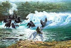 Ted Nasmith - Riders at The Ford