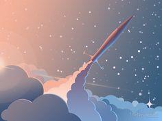'Spaceship' Poster by Illustratix Studio Landscape Illustration, Graphic Design Illustration, Digital Illustration, Graphic Art, Logos Tattoo, Illustrations And Posters, Vector Art, Design Art, Cool Art