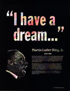 Martin Luther King...