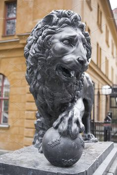 Lion statue by Stavrida on @creativemarket