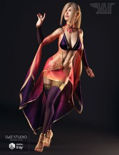 dForce Twilight Sorceress Outfit for Genesis 8 Female(s) | 3D Clothing #DazStudio
