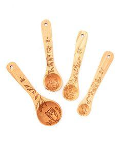 Look at this #zulilyfind! Woodland Bird Measuring Spoon Set by Talisman Designs #zulilyfinds