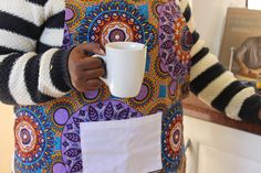 Aprons - Wax Print – Lukhanyiso Arts & Crafts African Design, Aprons, Wax, Arts And Crafts, Handmade, Contemporary, Color, Kitchen, Ideas