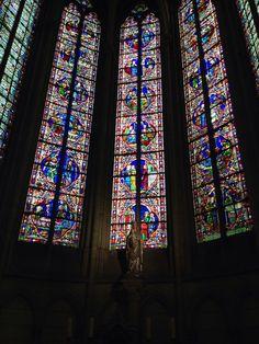 Vitraux de la Cathédrale St. Etienne de Meaux, France, construite ente 1175 et 1540, style Gothique. Crédit photo Nihil XIII