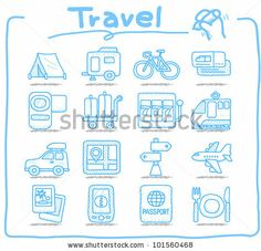 Pure Series | Hand drawn Vacation, Travel icon set by Ziven, via Shutterstock