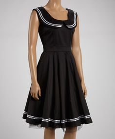 Love this HEARTS & ROSES LONDON Black & White Sailor Dress by HEARTS & ROSES LONDON on #zulily! #zulilyfinds