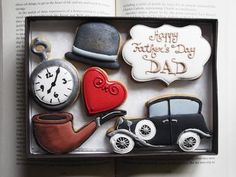 Personalised Vintage Style Cookie Gift Set for Men