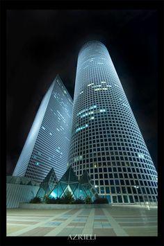 Funny architecture - Azrieli Center by `gilad, Tel Aviv, Israel Tel Aviv, Futuristic Architecture, Amazing Architecture, Architecture Design, Ouvrages D'art, Israel Travel, Amazing Buildings, Beautiful Places, Around The Worlds