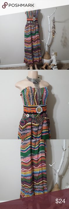 SAND STUDIO COLORFUL PRINT MAXI DRESS! SAND STUDIO COLORFUL PRINT MAXI DRESS! Super cute! Full of color to play with styles. Upper elastic ribbed top for fitting. Lower flowy maxi. Lightweight and comfortable! Perfect condition! 100%cotton. Sand Studio Dresses Maxi