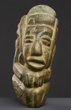 pre-columbian Mezcala figure - A Private Collection What Is Today, Mesoamerican, Stone Sculpture, Stone Carving, Cubism, Ancient Civilizations, Costa Rica, Facial, Museum