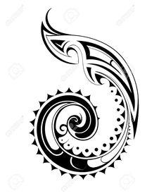 Vektor-Illustration Für Maori Ethnischen Tattoo Vorlage Lizenzfrei Nutzbare Vektorgrafiken, Clip Arts, Illustrationen. Image 47262256.