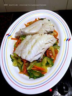 AMC surtido cocina/ollas&sartenes: Filetes de Bacalao con verduras