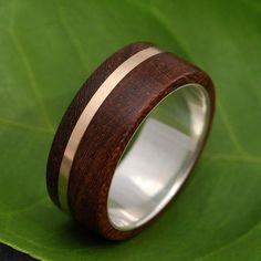 Mens Wood Wedding Band #Engagementringsformen
