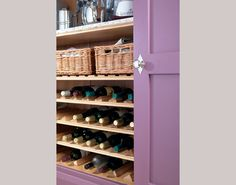 Wine storage and willow baskets