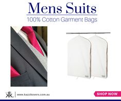 Kazzi Kovers offers the finest in Suit and Garment Protection. Our 100% Natural Cotton Garment Bags are the most effective and environmentally friendly solution to suit storage and preservation.  Each bag includes a full-length size zipper and it is fully-sealed to effectively deter moths and pesky insects, whilst keeping your suit cool in the summer and insulated in the winter.  Breathable. Hygienic. Acid-Free.