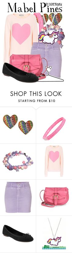 """""""Mabel Pines"""" by leslieakay ❤ liked on Polyvore featuring Betsey Johnson, Zella, Wildfox, Closed, Disney, RED Valentino and Old Navy"""