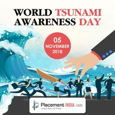 Did you know that World Tsunami Awareness Day is this Monday, November Job Portal, Trending Topics, Tsunami, Good Job, Did You Know, Knowing You, November, World, Day