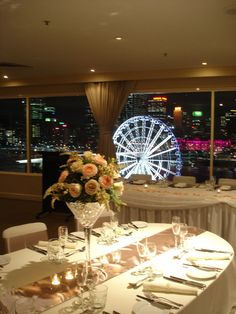 Wedding set up on the Rooftop | Level 12 | View of South Bank