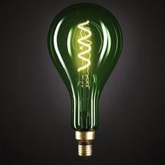 Edison Soft žiarovka, Smaragdová LED žiarovka - XXL - 5W, E27, Stmievateľná, 2000K (2) Bari, Light Bulb, Pastel, Led, Retro, Lighting, Vintage, Home Decor, Italia