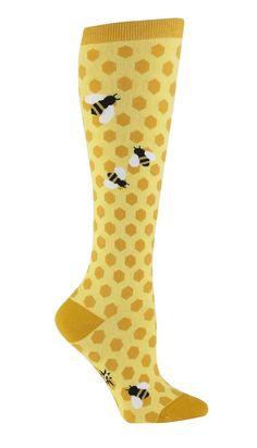 Sock It To Me Bee's Knees Women's Knee High Socks women's shoe size 5-10