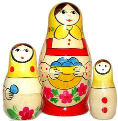 Russian hand-painted nesting dolls