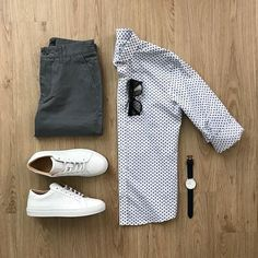casual style outfit grid for men Men Fashion Show, Mens Fashion, Fashion Outfits, Fashion Wear, Style Fashion, Fashion Tips, Stylish Mens Outfits, Cool Outfits, Men With Street Style