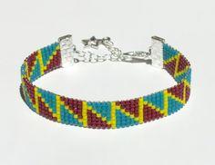 Bead loom bracelet with Miyuki Delica beads  ZIGGA by ByKasa