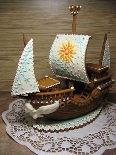 gingerbread ship cake