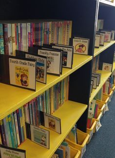 Library Organization Highlight the author of the month If you like. School Library Decor, School Library Displays, Elementary School Library, Library Ideas, Elementary Library Decorations, Library Rules, Middle School Libraries, Library Skills, Class Library