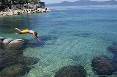 Diving at Lake Tahoe, CA