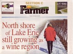 story about us. Lake Erie, North Shore, Wines, Vineyard