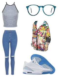 """""""90's"""" by madddgalriri ❤ liked on Polyvore featuring Topshop, Miss Selfridge, RageOn and NIKE"""