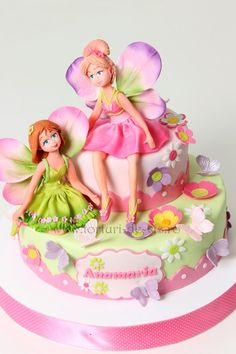 520 x 780 Fairy Garden Cake, Garden Cakes, Cupcakes, Cupcake Cakes, Kid Cakes, Barbie Fairy, Birthday Cake Girls, Birthday Cakes, Girly Cakes