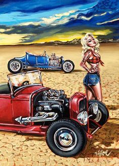 HOT ROD CAR POSTER CLASSIC USA  LARGE WALL ART HUGE