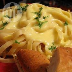 Foto de receta: Salsa alfredo bien cremosa