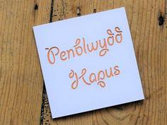 'Penblwydd Hapus' (Happy Birthday) card - apricot £3.00