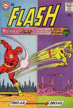 The Flash  DC Comics Book cover art super heroes villians reverse
