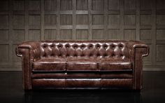 Chesterfield Leather Tufted Sofa - Stanley (Tailored)
