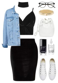 """"" by fiovasquez ❤ liked on Polyvore featuring Boohoo, Miss Selfridge, Converse, Mansur Gavriel, Herbivore and Chico's"
