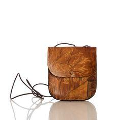 HandmadeOctober Leather Small Bag / Crossbody Bag / by handorra, $45.00