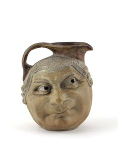 Lawyer two side face jug Martin Brothers Stoneware Pottery by Robert Wallace Martin